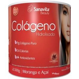 Colágeno Hidrolisado (300g) morango e açaí