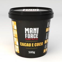 Pasta de Amendoim Maniforce Cacau e Coco (500g)
